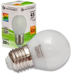 Лампа светодиодная Наносвет E27 5,5W 2700K матовая LE-P45-5.5/E27/927 L132