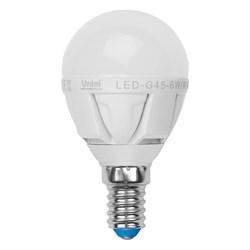 Лампа светодиодная (UL-00000773) Uniel E14 7W 3000K матовая LED-G45-7W/WW/E14/FR PLP01WH