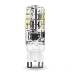 Лампа светодиодная Gauss G9 3W 2700K прозрачная 107709103