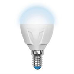 Лампа светодиодная (UL-00000771) Uniel E14 7W 4500K матовая LED-G45-7W/NW/E14/FR PLP01WH