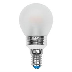 Лампа светодиодная (UL-00000801) Uniel E14 5W 3000K матовая LED-G45P-5W/WW/E14/FR ALC02SL