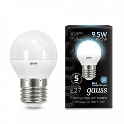 Лампа светодиодная Gauss E27 9.5W 4100K матовая 105102210