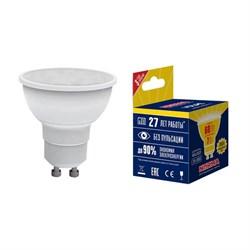 Лампа светодиодная GU10 7W 3000K матовая LED-JCDR-7W/WW/GU10/NR UL-00003838