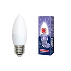 Лампа светодиодная E27 7W 6500K матовая LED-C37-7W/DW/E27/FR/NR UL-00003797