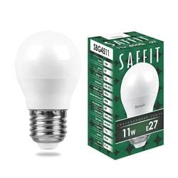 Лампа светодиодная Saffit E27 11W 4000K Шар Матовая SBG4511 55139