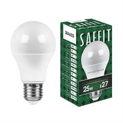 Лампа светодиодная Saffit E27 25W 2700K Шар Матовая SBA6525 55087