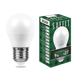 Лампа светодиодная Saffit E27 9W 6400K Шар Матовая SBG4509 55126
