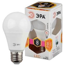 Лампа светодиодная ЭРА E27 8W 2700K матовая ECO LED A60-8W-827-E27 Б0019066