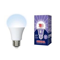 Лампа светодиодная (UL-00005624) Volpe E27 9W 6500K матовая LED-A60-9W/6500K/E27/FR/NR