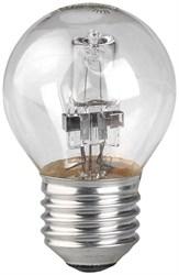 Лампа галогенная ЭРА E27 28W 2700K прозрачная HAL-P45-28W-230V-E27-CL C0038552
