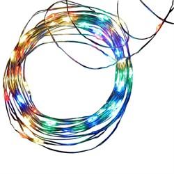 Светодиодная гирлянда Uniel Роса разноцветный ULD-S0500-050/SCB/2AA Multi IP20 Dew UL-00005266