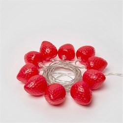 Светодиодная гирлянда Uniel Клубника красный ULD-S0400-010/STB/2AA Red IP20 Strawberry UL-00003394