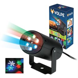Светодиодный светильник-проектор ULI-Q306 4W/RGB BLACK SNOWFLAKE UL-00001187