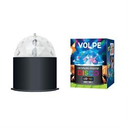 Светодиодный светильник-проектор Volpe Disco ULI-Q302 03W/RGB Black 09840