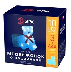 Светодиодная фигура ЭРА медвежонок с корзинкой ENIOF - 12 Б0047974