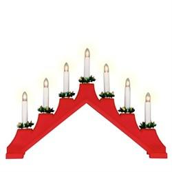 Фигурка «Новогодняя горка» 30х41см Uniel UDL-L7101-007/SWA/WW Red Bridge UL-00007387