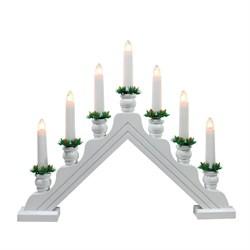 Фигурка «Новогодняя горка» 34х39см Uniel UDL-L7301-007/SWA/WW White Bridge UL-00007389