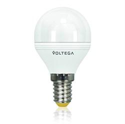 Лампа светодиодная диммируемая Voltega E14 6W 2800К матовая VG2-G2E14warm6W-D 5493