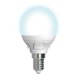 Лампа светодиодная диммируемая Uniel E14 7W 4000K матовая LED-G45 7W/4000K/E14/FR/DIM PLP01WH UL-00004300