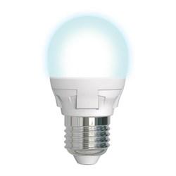 Лампа светодиодная диммируемая Uniel E27 7W 4000K матовая LED-G45 7W/4000K/E27/FR/DIM PLP01WH UL-00004301