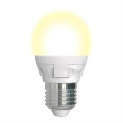 Лампа светодиодная диммируемая Uniel E27 7W 3000K матовая LED-G45 7W/3000K/E27/FR/DIM PLP01WH UL-00004303