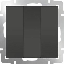 Выключатель Werkel трехклавишный серо-коричневый WL07-SW-3G 4690389073458