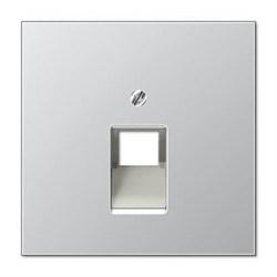 Накладка 1-ой наклонной телефонной/компьютерной розетки Jung LS 990 алюминий AL2969-1UA
