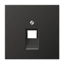Накладка 1-ой наклонной телефонной/компьютерной розетки Jung LS 990 антрацит AL2969-1UAAN