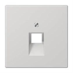 Накладка 1-ой наклонной телефонной/компьютерной розетки Jung LS 990 светло-серая LS969-1UALG