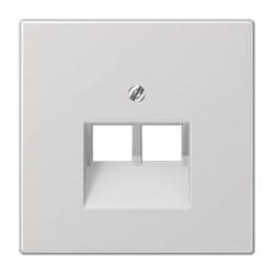 Накладка 2-ой наклонной телефонной/компьютерной розетки Jung LS 990 светло-серая LS969-2UALG