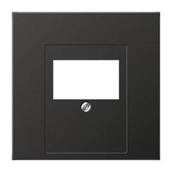 Накладка розетки ТАЕ, моно/стерео-аудиорозетки, комбинированной вставки Jung LS 990 антрацит AL2969TAN