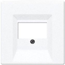 Накладка розетки ТАЕ, моно/стерео-аудиорозетки, комбинированной вставки Jung LS 990 белая LS969TWW