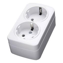 Розетка двойная Feron Stekker с/з 16A 250V белый PST1650220 39034