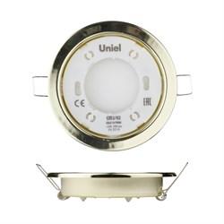 Встраиваемый светильник Uniel GX53/H2 Gold 10 Prom UL-00005053