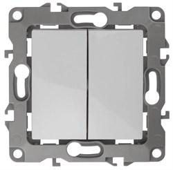 Выключатель двухклавишный ЭРА 12 10AX 250V 12-1004-01 Б0014651