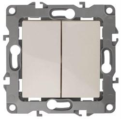 Выключатель двухклавишный ЭРА 12 10AX 250V 12-1004-02 Б0014652