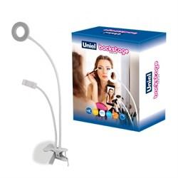 Настольная лампа Uniel Backstage ULK-F51-8W/SW/Dim IP20 White UL-00006867