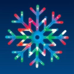 Подвесной светодиодный светильник «Снежинка» Uniel ULD-H4040-048/DTA RGB IP20 Snowflake UL-00007250