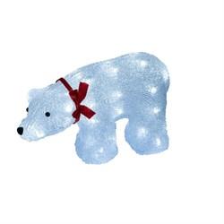 Фигурка светодиодная «Белый медведь» 23x36,5см Uniel ULD-M3423-040/STA 07954