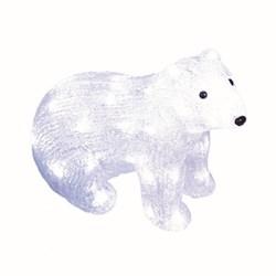 Фигурка светодиодная «Белый медведь-4» 25x31см Uniel ULD-M3125-040/STA 11037