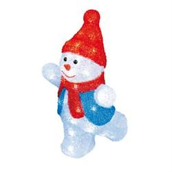Фигурка светодиодная «Снеговик-2» 34x22см Uniel ULD-M2234-040/STA 11030