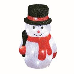 Фигурка светодиодная «Снеговик-3» 27x18см Uniel ULD-M1827-030/STA 11034