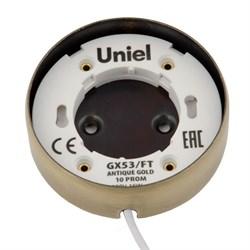 Потолочный светильник Uniel GX53/FT Antique Gold UL-00003738