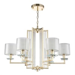 Подвесная люстра Crystal Lux Nicolas SP-PL6 Gold/White