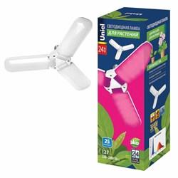 Лампа светодиодная для растений Uniel E27 24W матовая LED-P65-24W/SPSB/E27/FR/P3 PLP32WH UL-00007407