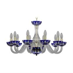 Подвесная люстра Bohemia Ivele 1308/10/240 G Cl/Clear-Blue/H-1H