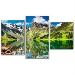 Мини модульная картина Горное озеро Toplight 55х94см TL-MM1032