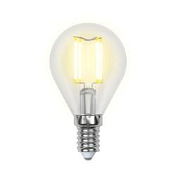 Лампа светодиодная филаментная Uniel E14 6W 4000K прозрачная LED-G45-6W/NW/E14/CL PLS02WH UL-00001371