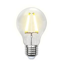 Лампа светодиодная филаментная Uniel E27 8W 4000K прозрачная LED-A60-8W/NW/E27/CL PLS02WH UL-00001372