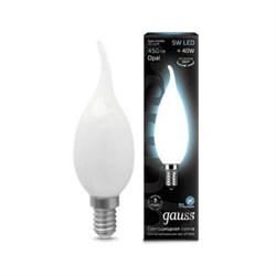 Лампа светодиодная филаментная Gauss E14 5W 4100К матовая 104201205